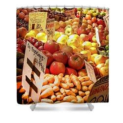 Farmers Market Shower Curtain by Karen Wiles