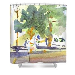 Farmers Market Vi Shower Curtain by Kip DeVore