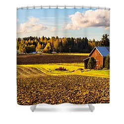 Farmer's Sunny Autumn Day Shower Curtain