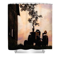 Farmers Sunset Shower Curtain
