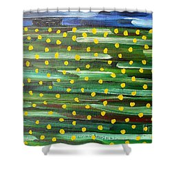 Farmhouse On The Hill Shower Curtain by Patrick J Murphy