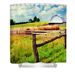 Farming Shower Curtain by Darren Fisher