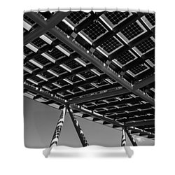 Farming The Sun - Architectural Abstract Shower Curtain
