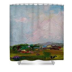 Farmland IIi Shower Curtain by Judith Rhue