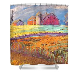 Farmland Sunset Shower Curtain