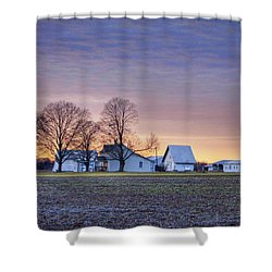 Farmstead At Sunset Shower Curtain