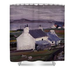 Farmsteading Shower Curtain by Francis Campbell Boileau Cadell