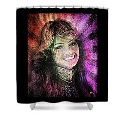 Farrah Fawcett Shower Curtain by Absinthe Art By Michelle LeAnn Scott