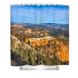 Shower Curtain featuring the photograph Farview Point Tableau by John M Bailey