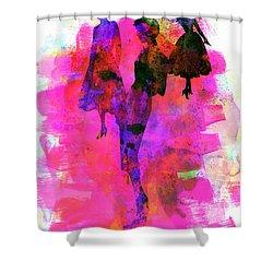 Fashion Models 1 Shower Curtain by Naxart Studio