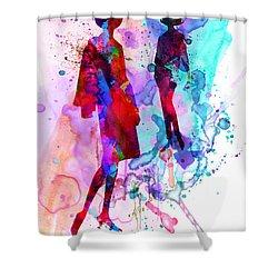Fashion Models 8 Shower Curtain by Naxart Studio