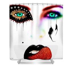 Fashionista Soft Rainbow Shower Curtain