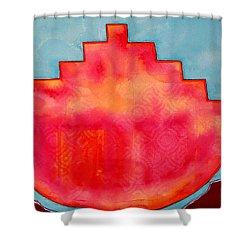 Fat Sunrise Original Painting Shower Curtain