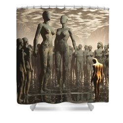 Fate Of The Dreamer Shower Curtain