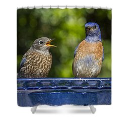 Father And Baby Shower Curtain by Jean Noren