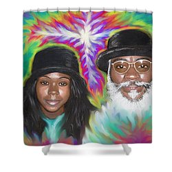 Father And Daughter Spirit Ministry  Shower Curtain by Hidden  Mountain