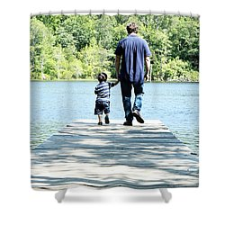 Father And Son Shower Curtain by Andrea Anderegg