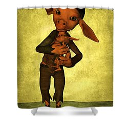Shower Curtain featuring the digital art Father And Son by Gabiw Art