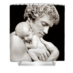 Father And Son Shower Curtain by Lori Grimmett