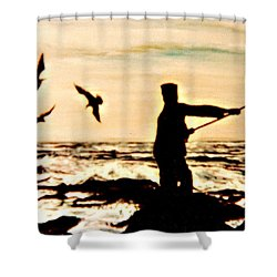 Father Fisherman Shower Curtain