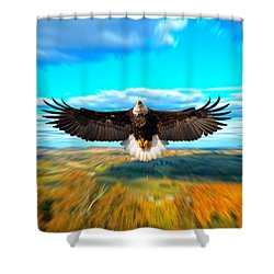 Father Restore Our Land Shower Curtain by Randall Branham