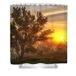 Father's Day Sunrise Shower Curtain