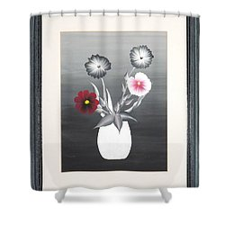 Shower Curtain featuring the painting Faux Flowers II by Ron Davidson