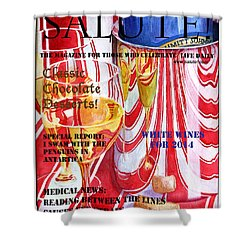 Faux Magazine Cover Shower Curtain by Mariarosa Rockefeller