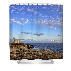 Favignana - Lighthouse Shower Curtain