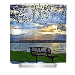 Favorite Bench And Lake View Shower Curtain by James BO  Insogna