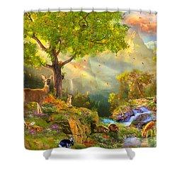 Fawn Mountain Shower Curtain by Aimee Stewart