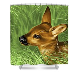 Fawn Shower Curtain by Veronica Minozzi