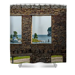Fayette Ruins Shower Curtain by Paul Freidlund