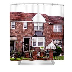 Shower Curtain featuring the photograph Fayette Street by Christopher Woods