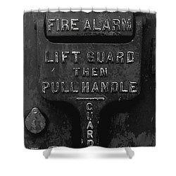 Fdny - Alarm Shower Curtain by James Aiken