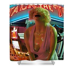 Fear And Loathing In My Vegas Shower Curtain by John Malone