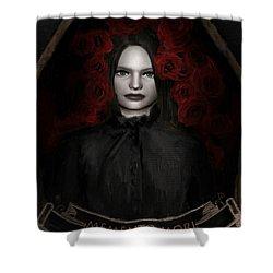 Fear Not Death Shower Curtain by Lourry Legarde