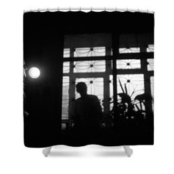 Fear Of The Dark Shower Curtain by Taylan Apukovska