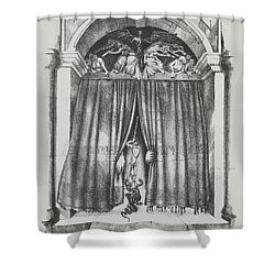 Fear's Overture Shower Curtain by Yvonne Wright
