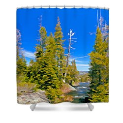Feather River Shower Curtain