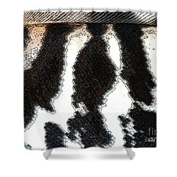 Feather Textures Shower Curtain by Sally Simon