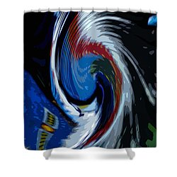 Feather Whirl Shower Curtain by Randy Pollard