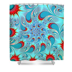 Feathered Coil Shower Curtain by Kevin Trow