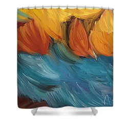 Feathers 5 Shower Curtain by Naomi McQuade