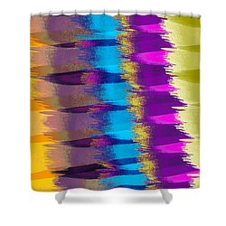 Feathers Abstract Shower Curtain