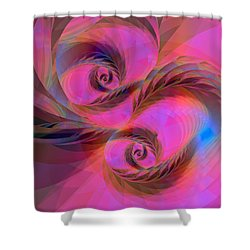 Feathers In The Wind Shower Curtain by Judi Suni Hall