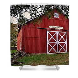 Featherstone Red Barn Shower Curtain