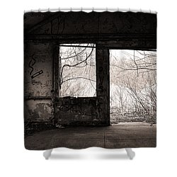 February - Comfortable Seclusion - Self Portrait Shower Curtain by Gary Heller