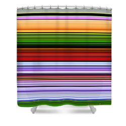 February Flowers Extract Shower Curtain