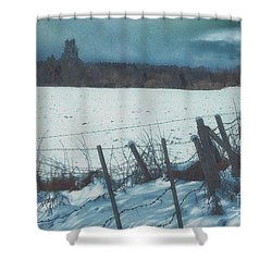 February Shower Curtain by Jutta Maria Pusl